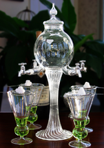 Absinthe Fountain 4 Spout Glass