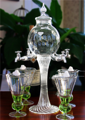 Blown Crystal Rozier Absinthe Fountain Set 4 Spout